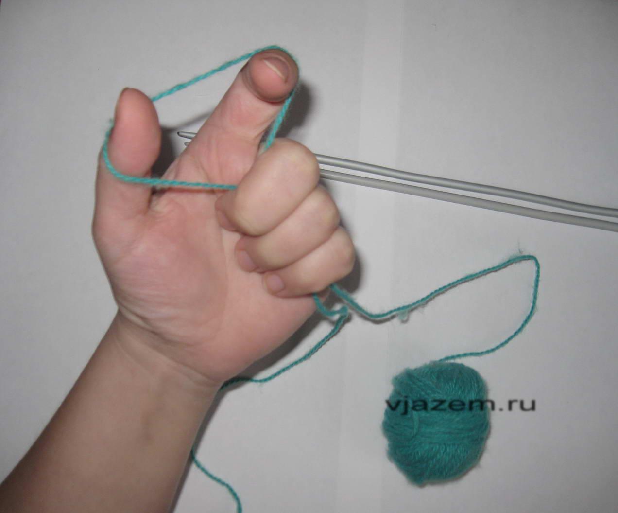 Урок 1. Начало вязания спицами. Набор петель. Mastercrochet 31