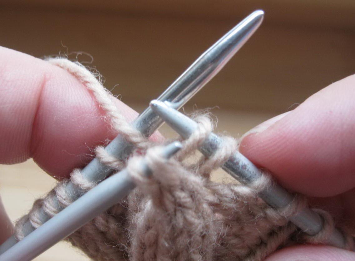 Вязание наклонные петли 7