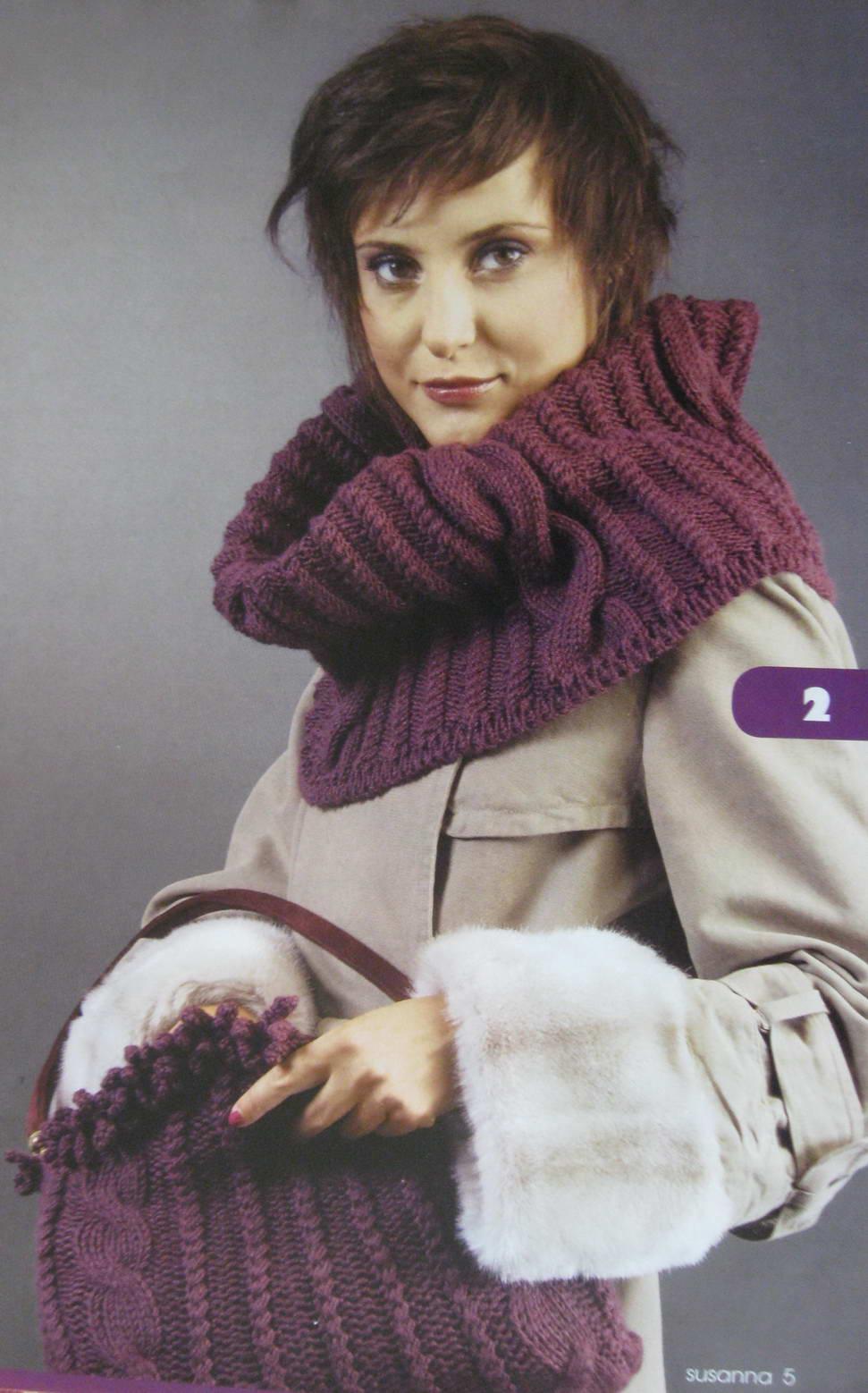 шарф из трикотажной пряжи крючком