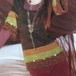 Пуловер в полоску в этническом стиле
