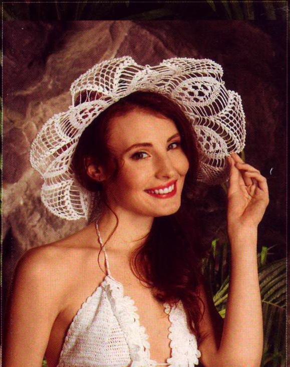 Летняя ажурная шляпка связана