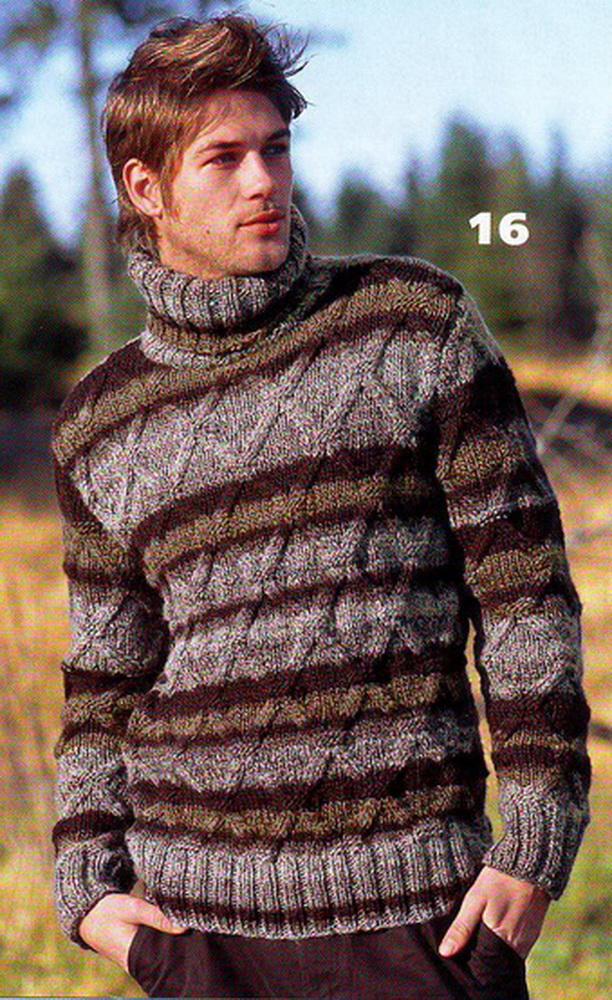 вязаные свитера из меланжевой пряжи спицами