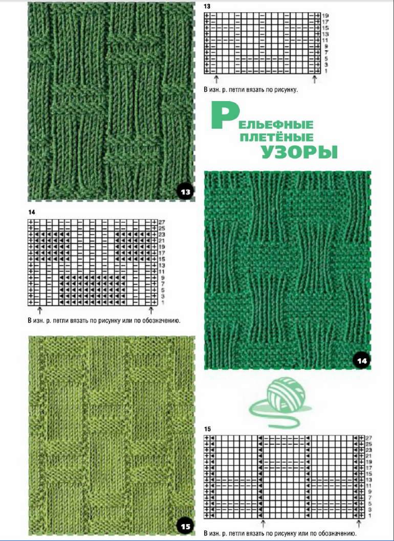 схемы вязания варежек плетенки