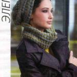 Комплект из шапки и шарфа снуда из меланжевой пряжи