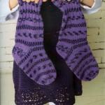 Носки спицами с жаккардовыми узорами из меланжевой пряжи