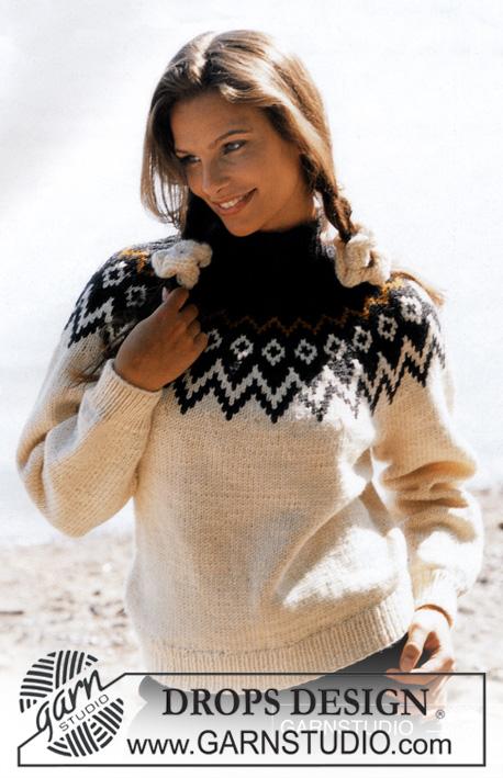 Женский свитер с жаккардовым