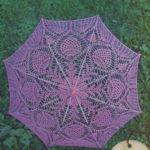 Ажурный зонт крючком вязаный из хлопка
