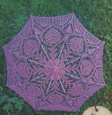 зонт крючком, вязаный зонт