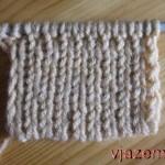 Набор петель спицами: эластичный набор петель для резинки 1х1