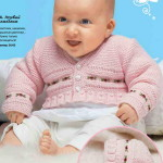 Вязание для маленькой девочки: комплект из жакета и шапочки