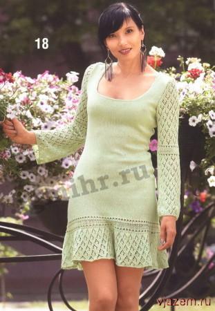 вязаное женское плат