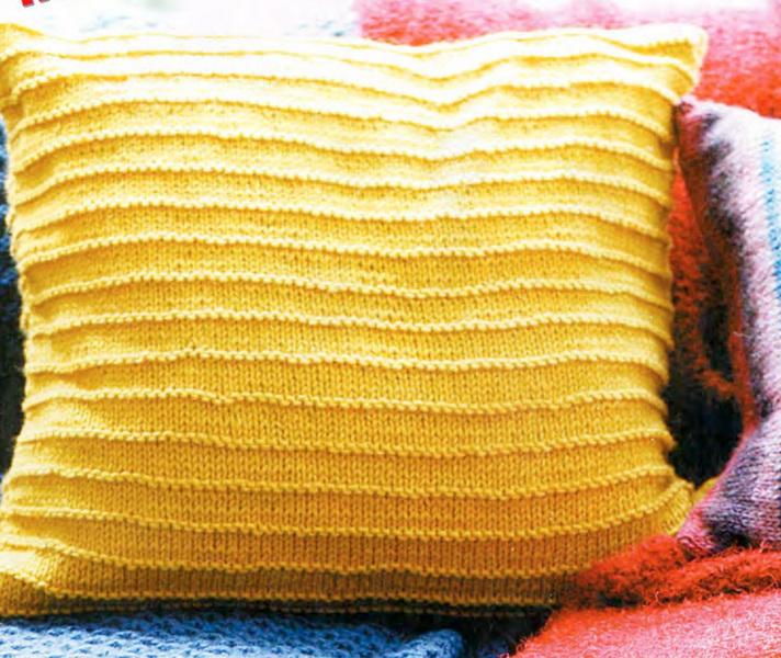 вязаные подушки, вязаные