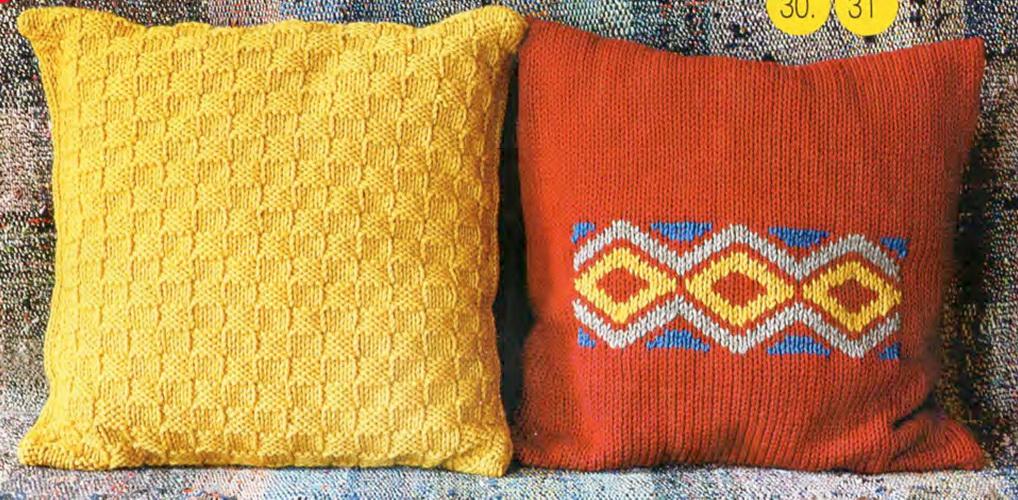Вязание на спицах подушка видео