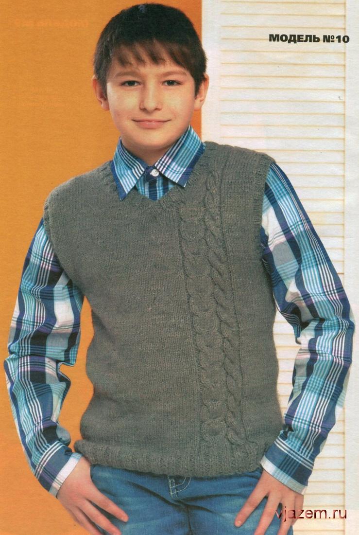 схема вязания свитера на мальчика 7-8 лет