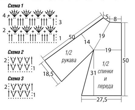 Схемы вязания из меланжевой крючком 146