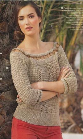 ажурные пуловеры