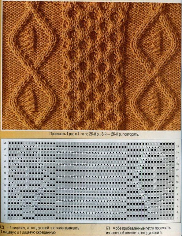 для вязания спицами,