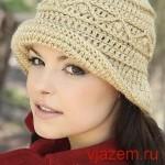 Осенняя шляпка крючком с описанием