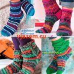 Четыре схемы вязания красивых носков спицами