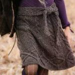 Красивая юбка с косами спицами