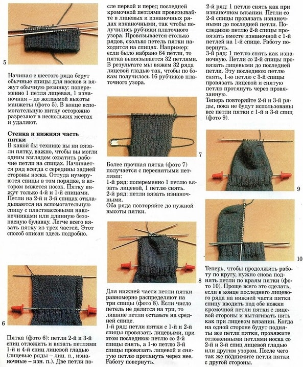 Как правильно научиться вязать носки 127