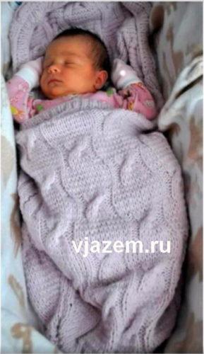 спальный мешок для новорожденных спицами