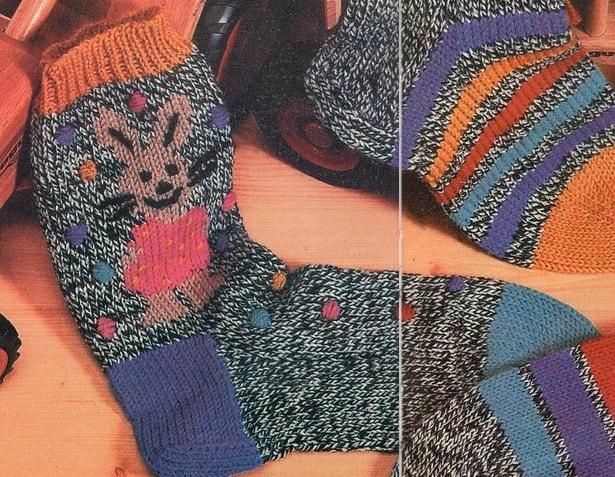 Ирландское вязание носков спицами 73