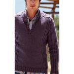 Мужской свитер с рукавом — погоном