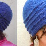 Rosazura: ассиметричная шапка спицами