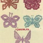 Маленькие бабочки крючком: 5 схем вязания