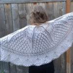 Ажурная шаль «Танцующие бабочки»: схема и описание
