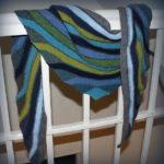«Good Vibrations» — шейный платок укороченными рядами