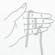 как правильно держать крючок и нитку при вязании