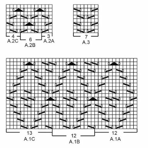 плед вязаный спицами из квадратов
