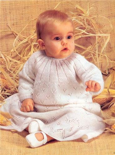 крестильное платье спицами