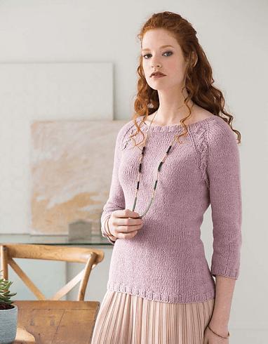 пуловер реглан сверху спицами