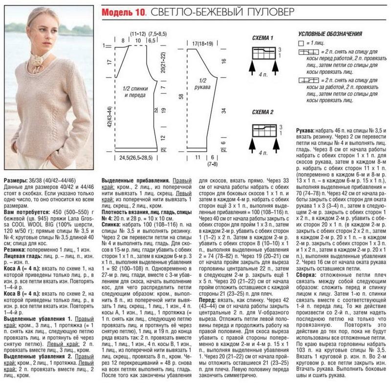 пуловер из lana grossa