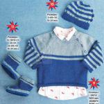 Пуловер реглан для мальчика 1 года спицами