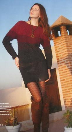 пуловер с косами, пуловер спицами