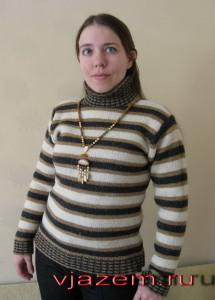 свитер спицами, вязание свитера спицами, свитер спицами с описанием и схемой