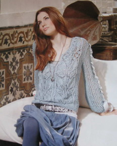 ажурный пуловер спицами