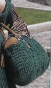 сумка вязаная спицами