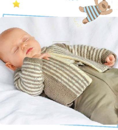 кофточка для новорожденного спицами