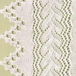 Ажурный край: схемы вязания узоров с ажурными краями спицами