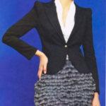 Юбка с рюшами из ленточной пряжи из  журнала «Susanna вязание»