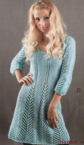 ажурное платье из мохера