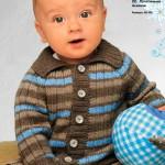 Полосатая кофточка для ребенка на 1-2 года спицами