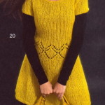 Желтое платье из мохера