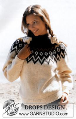 свитер с жаккардовым узором