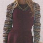 Женское вязаное ажурное болеро крючком